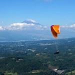 丹那フライトで富士山と写真