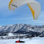 パラグライダー雪上グランドハンドリング