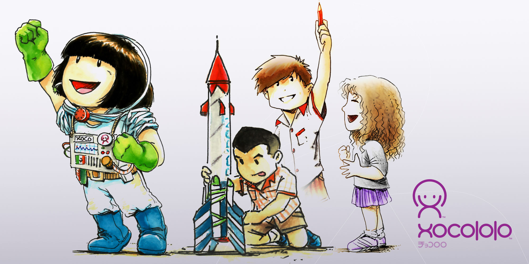 Xocololo children series by Hakubashi