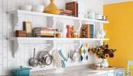 طرق عمل رفوف للمطبخ وكيفية إختيار أنواع رفوف المطبخ