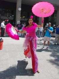 Hala on jumping stilts - Toronto Buskerfest preview 2011