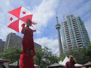 Hala on stilts CN tower