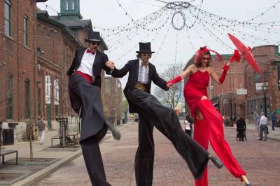 dancing on stilts Toronto Distillery