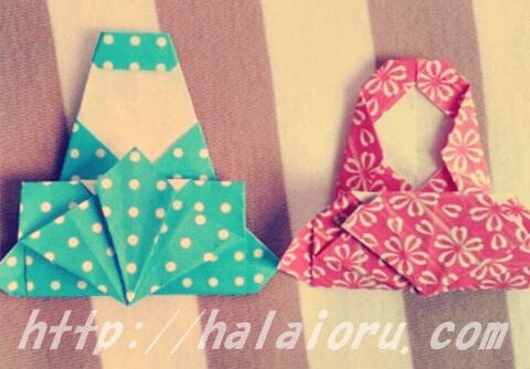 雛人形を折り紙で作成