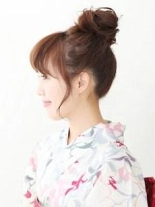浴衣 髪型 ミディアム