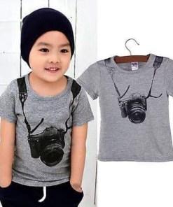 時尚1件男嬰T恤上衣套裝男孩