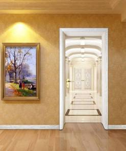 Free shipping Indoor Aisle Door Wall Stickers DIY Mural Bedroom Home Decor Poster PVC Waterproof Door Sticker 77x200cm Home, Pets and Appliances