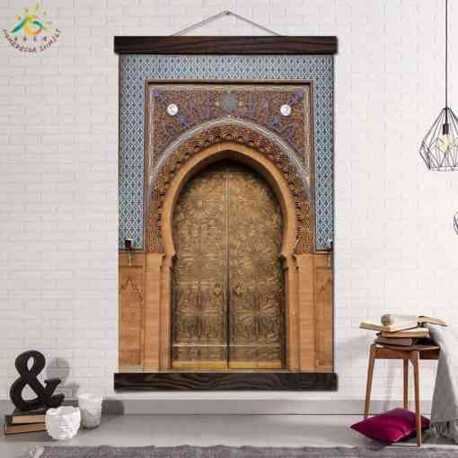 Islamic Oriental Door Modern Canvas Art Prints Poster Wall Painting Scroll Painting Artwork Wall Art Pictures Home Decoration Home, Pets and Appliances Islamic decoration