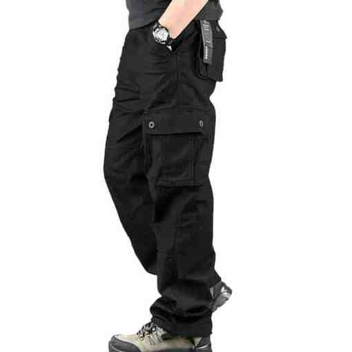 Pants Men Cargo Trousers Mens Casual Multi Pocket Military Overall Outdoors Loose Long Trousers Joggers Army Tactical Pants Men Men's Clothings Men's Pants
