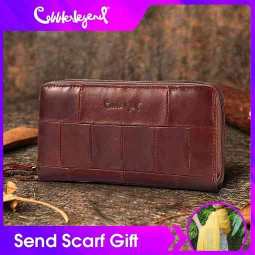 Cobbler Legend Brand Designer Casual Women Wallet Genuine Leather Long Wallet For Ladies Coin Card Purses For Female Coin Pocket Women Women's Bags