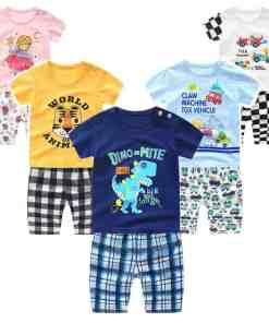 Summer children clothing sets cartoon toddler girls clothing sets top+pant 2Pcs/sets kids casual boys clothes sport suits outfit Boy Kids