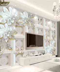 beibehang Custom photo wallpaper murals three-dimensional relief jewelry flowers European 3D background wall paintings Herbal Products