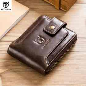 BULLCAPTAIN men's purse leather purse male purse RFID card holder wallet Storage bag coin purse Zipper wallet Men Men's Bags Men's Wallets