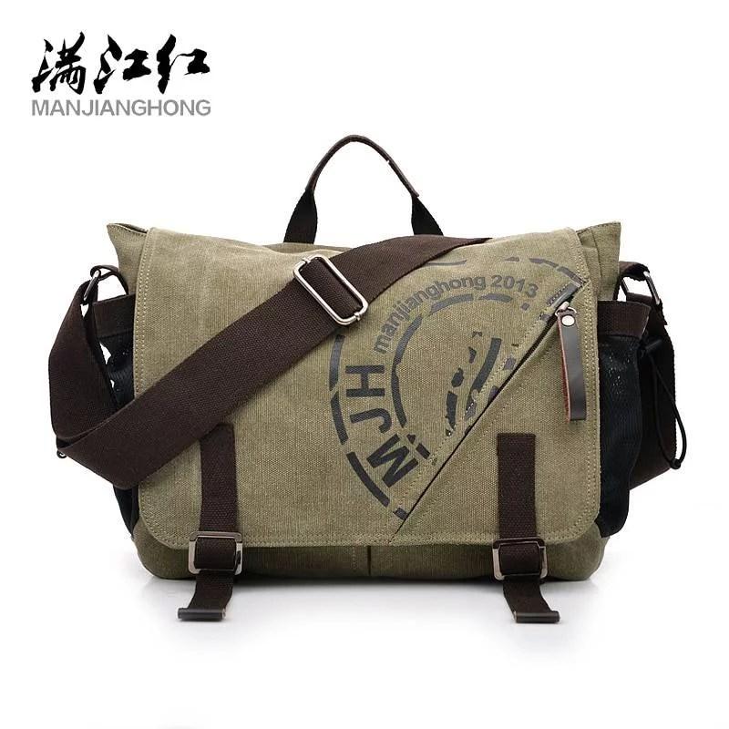 Man Canvas Messenger Bags Duffle Tote Travel Shoulder Bag High Quality Tote Bolsa Crossbody Bags Zipper Travel Leisure Handbag Men Men's Bags