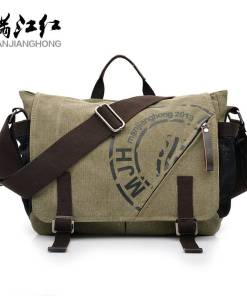 Man Canvas Messenger Bags Duffle Tote Travel Shoulder Bag High Quality Tote Bolsa Crossbody Bags Zipper Travel Leisure Handbag Men Men's Bags