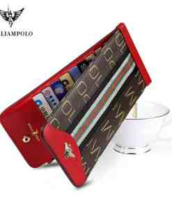 WilliamPolo Women Wallets with Zipper Phone Pocket Purse Card Holder Patchwork Women Long Ultra-thin Lady Wallet Coin Purse Women Women's Bags Women's Wallets