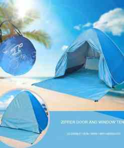 Beach Camping Tent Pop Up Automatic Open Family Ultralight Folding Tourist Fish Anti-UV Fully Sun ShadeTent Hiking Tents XA164+A Luggage & Bags