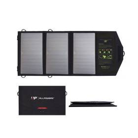 ALLPOWERS Portable Outdoors Solar Panel 5V 21W Foldable Waterproof USB Solar Cells Smartphone Mobile Power Battery Charger Cellphones & Telecommunications Mobile Phone Accessories Solar Panel Chargers