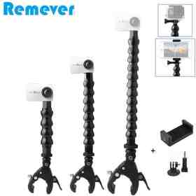 New Flexible Goose Neck Monopod with Holder Bracket for Gopro Hero 5 6 7 SJcam Action Cameras Selfie Stick with Clip for Phones Cellphones & Telecommunications Mobile Phone Accessories Selfie Sticks