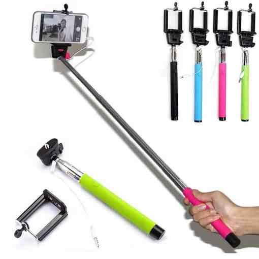 Selfie Stick with holder for Samsung Huawei Xiaomi Mobile Phone Monopod with 1/4inch Screw for GoPro Hero SJcam Yi Action Camera Cellphones & Telecommunications Mobile Phone Accessories Selfie Sticks