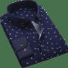 Men Shirt Long Sleeve Floral Printed Plaid Fashion Pocket Casual Shirts 100% Polyester Soft Comfortable Men Dress Shirt Men Men's Clothings Men's Shirts Men's Tops