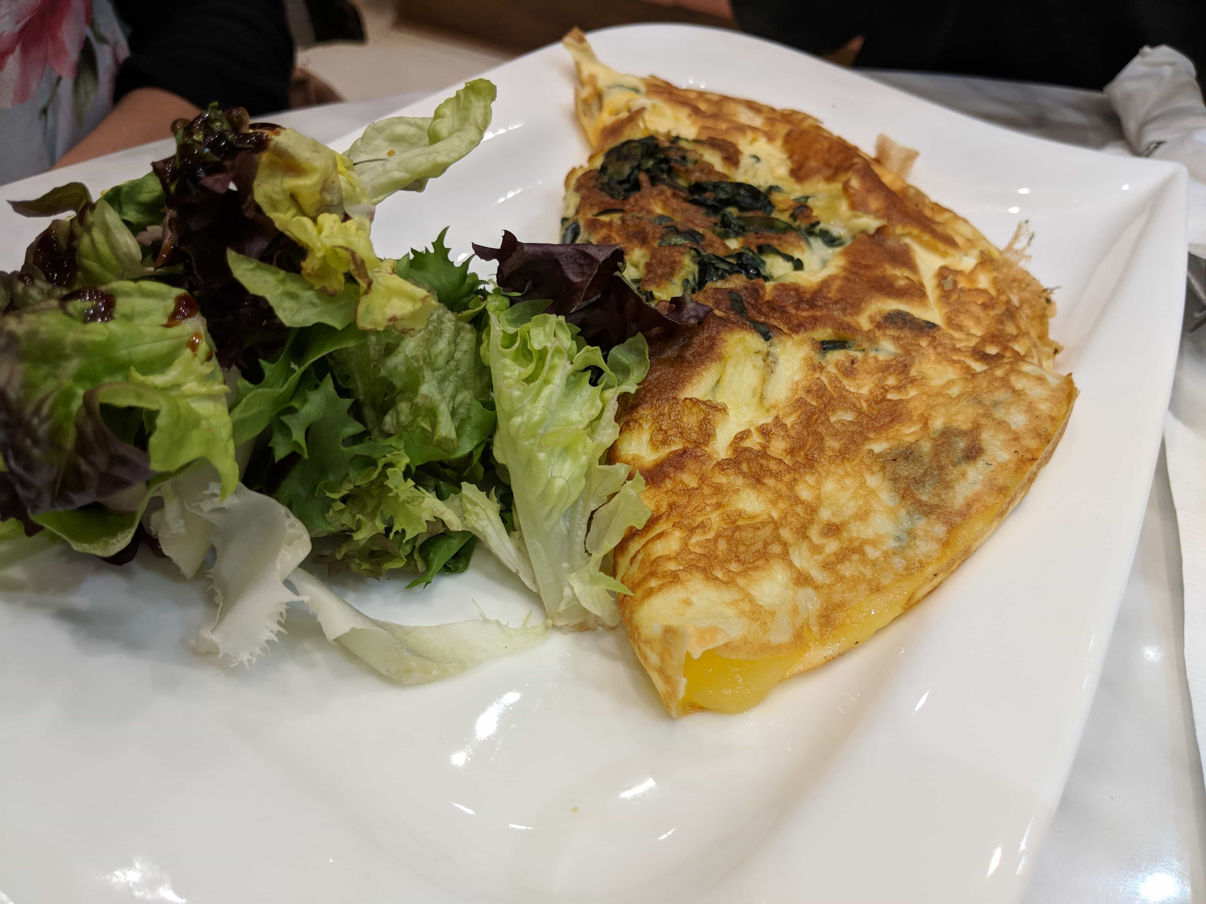 3 egg omelette with cheese & spinach