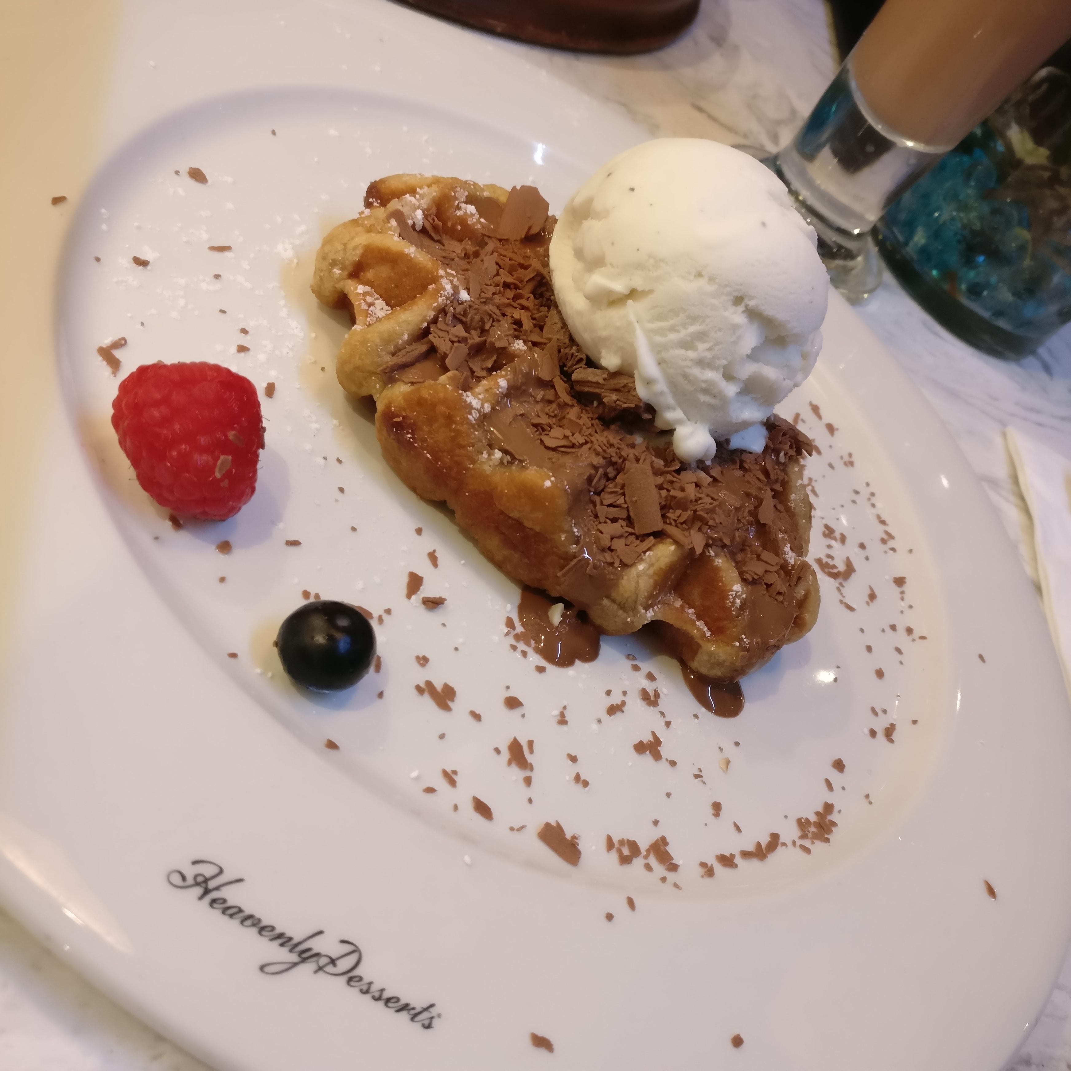 Belgian Cinnamon Waffle with Chocolate