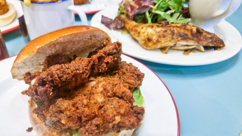 Fried Chicken in a bun
