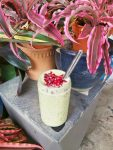 Green Smoothie with Pomegranate