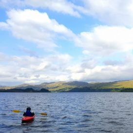 While kayaking was hard, it allowed for a more personal enjoyment of the views surrounding the loch.