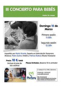 Concierto para bebés en Musicay el 15 de marzo