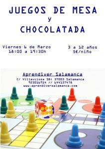 Juegos de mesa y chocolatada el 6 de marzo en Aprendiver