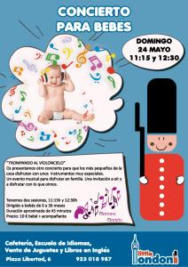 Concierto para bebés en Little London el 24 de mayo