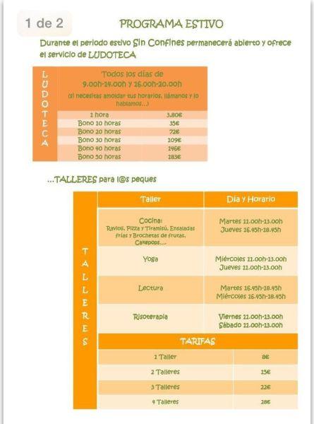 Ludoteca y Talleres de Verano en Sin Confines en Salamanca