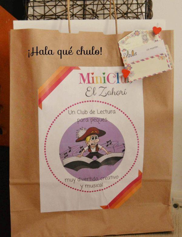 Bolsa del MiniClub de Lectura de la librería El Zahorí de Doñinos