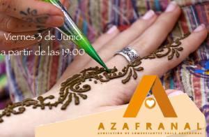 Tatuaje de henna en Azafranal