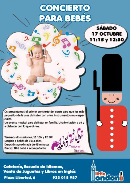 Concierto para bebés en Little London el 17 de octubre