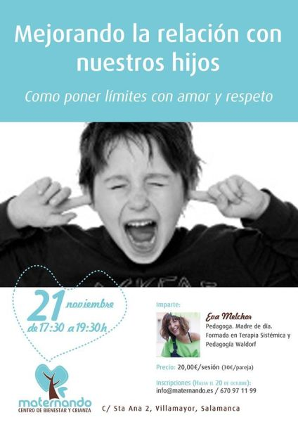 Charla de Eva Melchor sobre cómo poner límites a nuestros hijos con respeto en Maternando