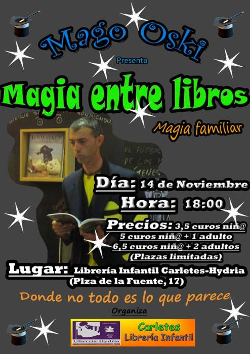 El Mago Oski en Carletes con un espectáculo de magia familiar