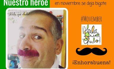 Nuestro héroe en noviembre se deja bigote