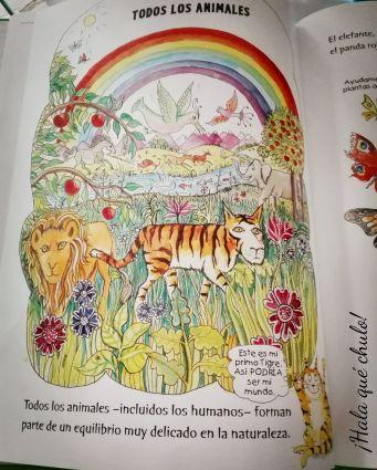 Ilustración de todos los animales de El gran libro de la ecología