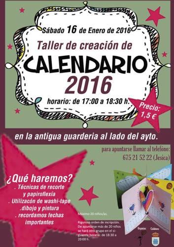 Taller de creación de calendario en Aldeatejada