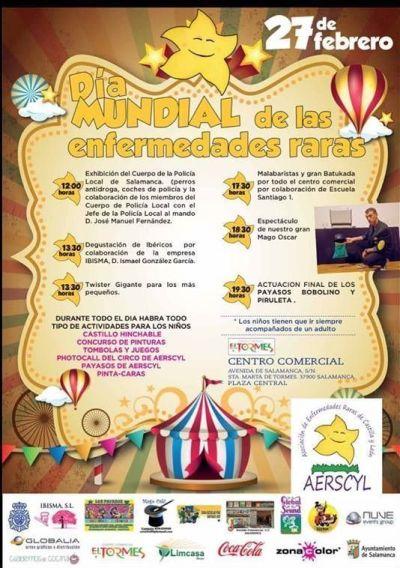 Celebrando el Día Mundial de las Enfermedades Raras en el Centro Comercial El Tormes de Salamanca