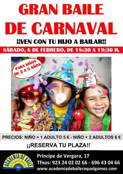 Gran baile de Carnaval en familia en la Academia de baile de Raquel Gómez de Salamanca