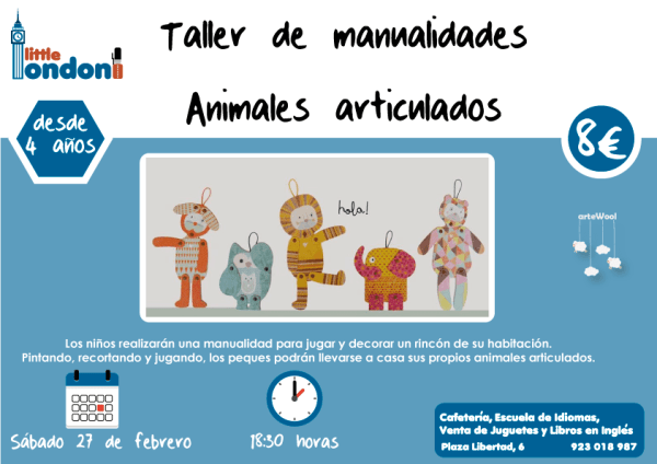 Taller de Manualidades Animales articulados en Little London