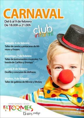 Talleres infantiles para celebrar el Carnaval en el Centro Comercial El Tormes de Salamanca