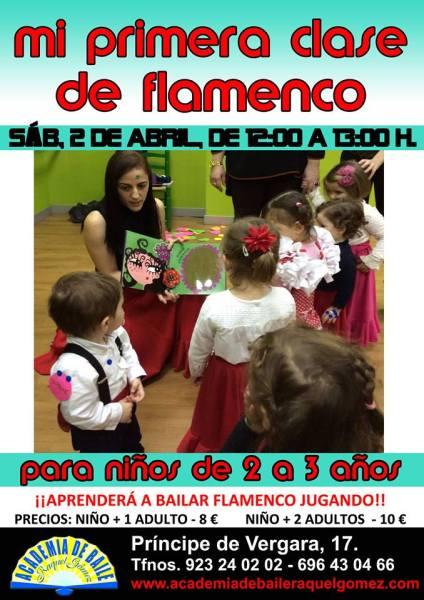Mi primera clase de flamenco en la Academia de Baile de Raquel Gómez en Salamanca el 2 de abril