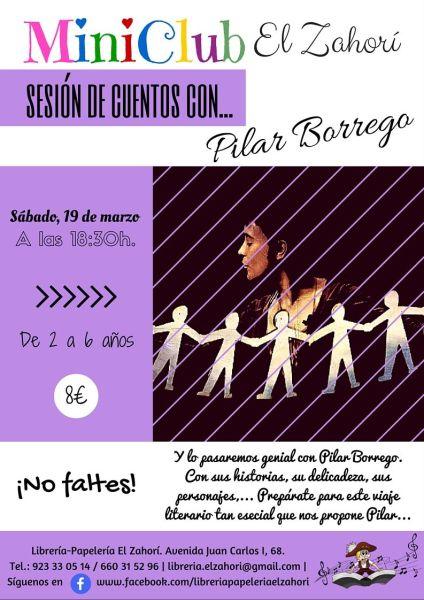 Pilar Borrego-Katua visita el MiniClub de la Librería-Papelería El Zahorí de Doñinos