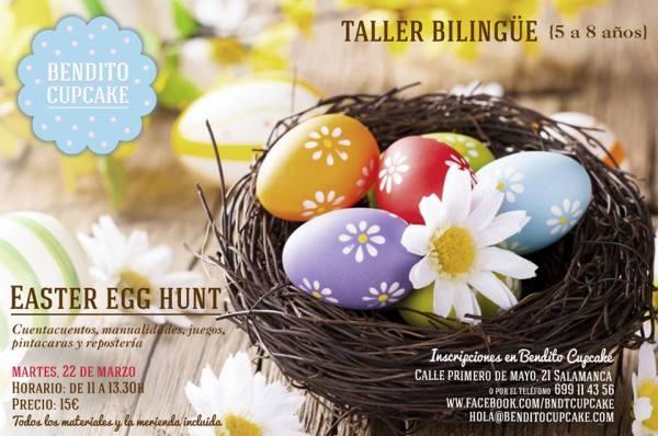 Taller bilingüe para niños en Bendito Cupcake en Salamanca espcial Huevos de Pascua