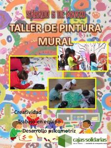 Taller de pintura mural Asociación de Emergencia Social Cajas Solidarias